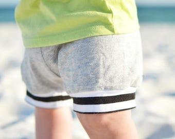 Baby shorts - Toddler shorts - kids shorts -shorties - grey shorts - grey shorties