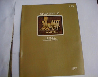 Mint Lionel Toy Train Catalog 1981 Pocket Catalog
