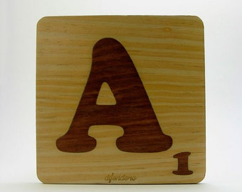 Letras etsy - Letras scrabble madera ...