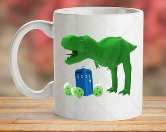 Dr Who Mug, Tardis Mug, Doctor Who Mug, Dino Egg Cup, Perhistoric Cup Gift, Dr Who Cup, Coffee Mug Gift, Gift For Him, Gift For Her, Whovian