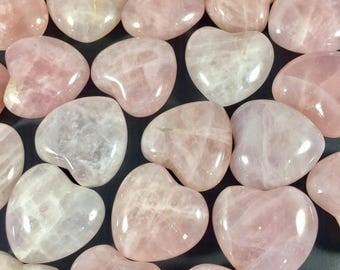 Rose Quartz Heart Pink Heart Crystal Stone Heart Healing Crystals and Stones - Prefect for crystal collections and more! GemCity