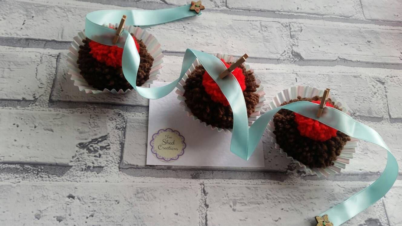 Pom Pom Bunting Garland Cupcake Bunting Decoration For