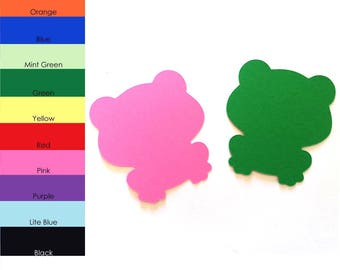25 Pack - Paper Frog Shape, Frog Die Cut, Frog Cut Out, Paper Animals, Paper Party Supplies