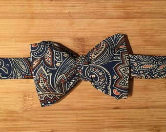 Fall Paisley Self-tie Bowtie