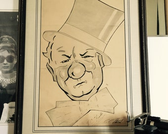 Vintage W.C. Fields Illustration