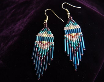 Standing Rock - Native American inspired handmade beaded earrings