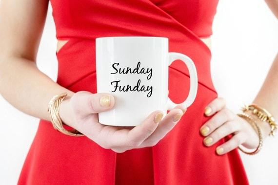 Sunday Funday Bistro 16 oz Coffee Mug