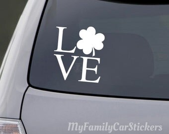 Love Irish Decal Love Irish Sticker Love Irish Shamrock Car Decal Laptop Sticker