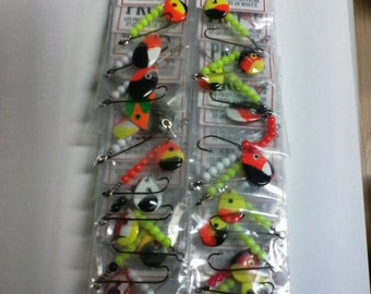 display of 24 fishing lures
