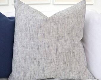 Navy Linen Throw Pillow Cover - Large Linen Pillows - Linen Pillow - Linen Pillow - Accent Pillow - Linen Pillows for Courch - Pillowcase