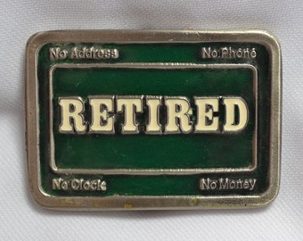 ON SALE! ..Vintage RETIRED Belt Buckle #6053