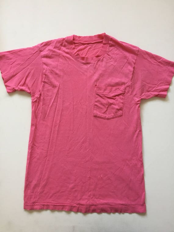 Vintage Paper thin t shirt 1980s distressed tshirt light pale pink thrashed size small medium nF7PuvE