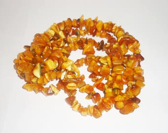 Long Natural Baltic amber necklace