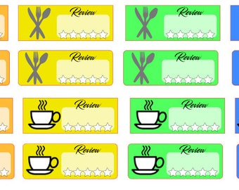 Restaurant, Cafe, Dining etc review stickers