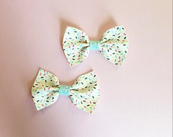 Sprinkles Faux Leather Bow