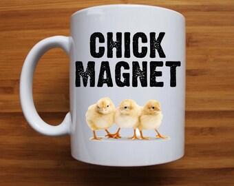 Chick Magnet Mug, Easter mug, Easter gift, Chicken mug, Funny mug