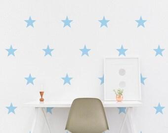 Star Wall Decal - 7.5cm Set of 12+ - Kids Wall Sticker - Pattern - Nursery Decor | PP108