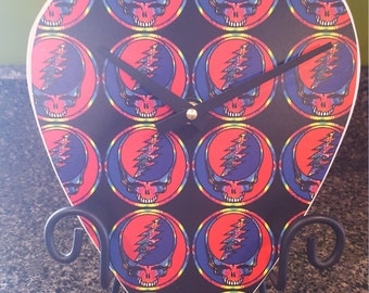 Grateful Dead Giant Guitar Pick Clock