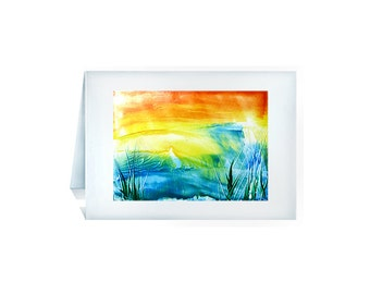 Greeting card of colorful summer