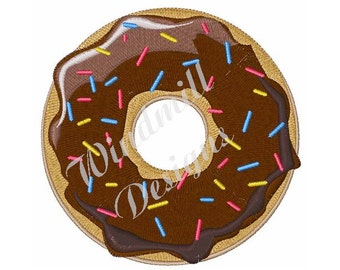 Chocolate Sprinkle Donut - Machine Embroidery Design