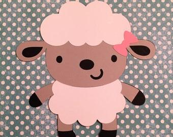 Sheep die cuts, Sheep die cut, Barnyard Party, Farm Barnyard Birthday Party Decorations, Sheep Cut Outs, Sheep Craft