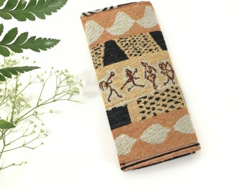 Orange Fabric Wallet | Tribal Wallet | Wallet for Lady | Womens Wallet | Handmade Wallet | Gift for Her | Lightweight Wallet | Cute Wallet