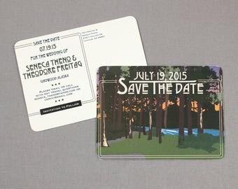 Girdwood Alaska Save the Date Postcards - JA1