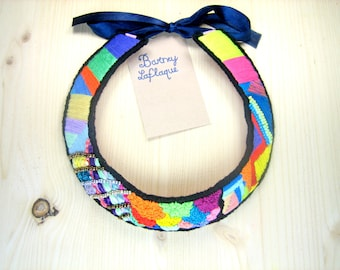 Collar embroidered Dickey 'Multicolor tribe'