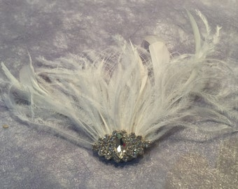 JAMIE - Bling & Feather Hair Piece