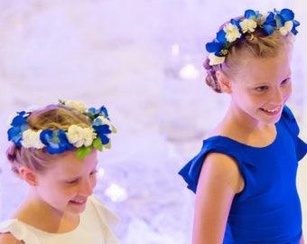 TERRI - Blue & White Flower Crown