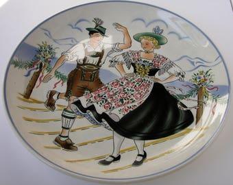 Vintage Bavarian Decorative Plate