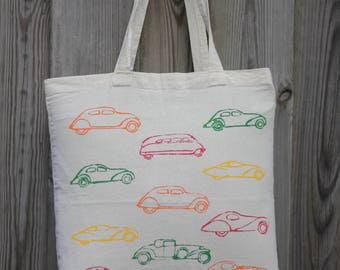Tote bag cars