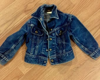 Kids Vintage Lee Riders Dark Denim Jacket