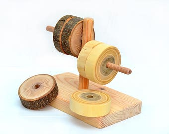 Primary tree ring sorter, Wooden first toy, Montessori inspired sorting toy, Wood waldorf educational stacking toy, Interactive learning
