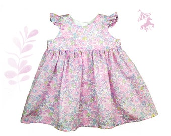 Dress ruffled Liberty® pink blotting baby