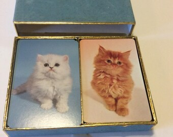 Vintage Cat Playing Cards Made by Congress