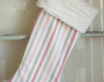 Strawberry Stripe Stocking