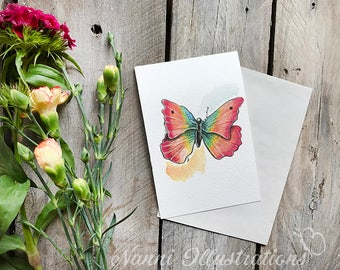 Watercolor Butterfly Postcard Set of 3