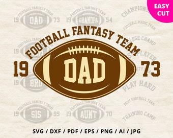 Football family svg files clipart vinyl design svg shirt Dad Mama Sister Brother dxf Silhouette Cricut Sport files svg Heat Press Transfer