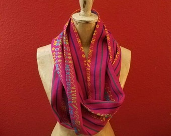 Mexican Infinity Scarf - Hot Pink