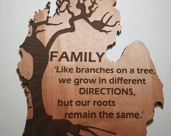 Mitten family quote wall hanging