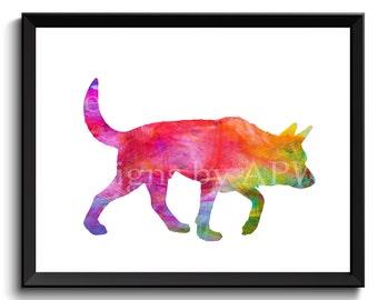 Australian Cattle dog, acd print, cattle dog art, blue heeler dog, red heeler dog, queesland heeler, australian dog - SKU1011
