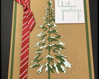 Christmas Card, Handmade Christmas Card, Kraft Old Fashioned Card, Christmas Greetings Card, Fancy Handmade Card, Embossed Greeting Card,