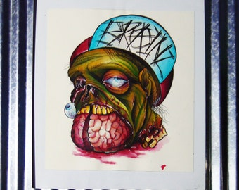 Brains Watercolor Painting