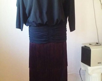 Vintage 1980s Lillie Rubin flapper style dress
