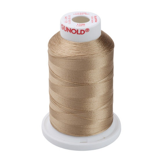 1128 Dk. Ecru Gunold Thread - 40 WT SULKY RAYON Mini King Cones 1100 Yds - Machine Embroidery ...