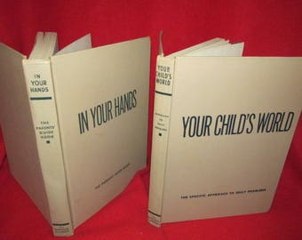 """Set of Two Vintage Books on Child Rearing: """"Your Child's World"""" and """"In Your Hands"""""""