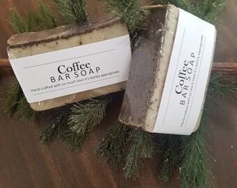 Coffee scrub  handmade soap