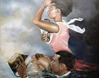 Spiritual Support,Black Art,african american Art, Limited Edition of 900, size 26 X 30