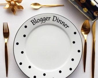 Blogger Dinner Plate